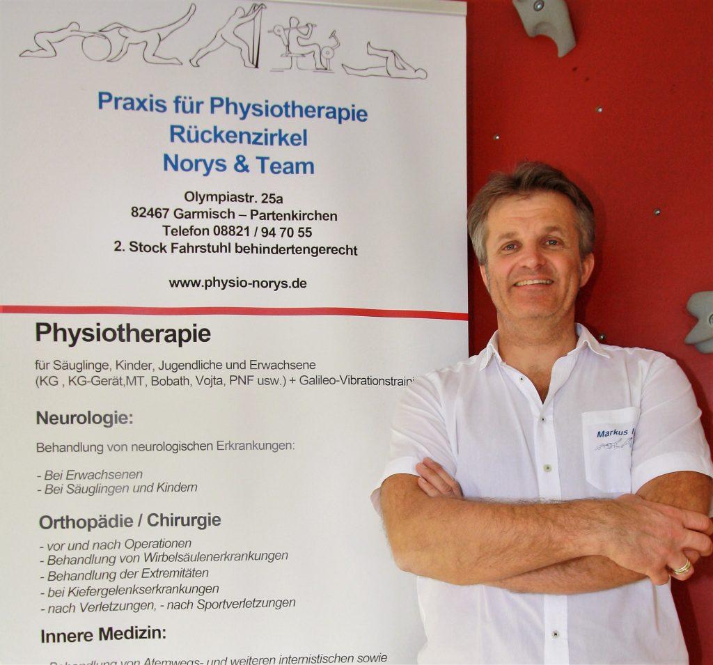 Markus Norys Physiotherapeut (OMT), Gymnastiklehrer, Sportphysiotherapeut, Teilheilpraktiker für Physiotherapie